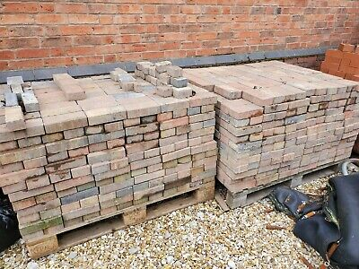 Red & Blue Block Paving - Used Approx 1300 Bricks