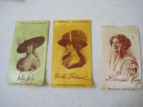 ANTIQUE TURN OF THE CENTURY CIGARETTE SILKS,EUPHEMIA QUILTING., EARLY ACTRESSES
