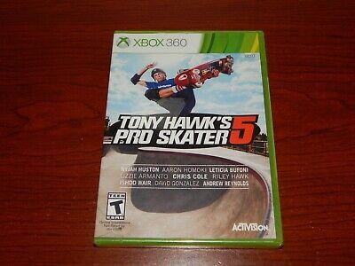 New! Tony Hawk's Pro Skater 5 Microsoft Xbox 360 Free Shipping