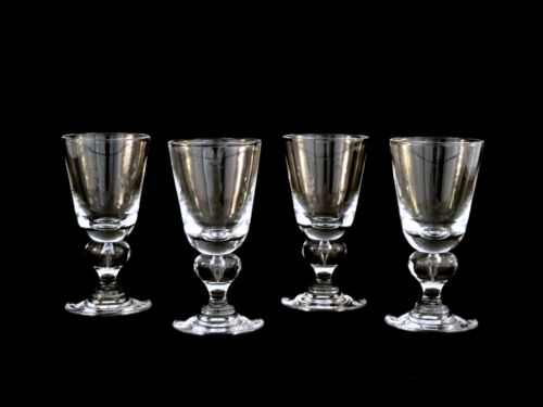 Vintage Steuben Crystal #7877 Teardrop Wine Glasses Set of 4