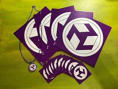 """Kit símbolo Antahkarana (reiki) 4 Tarjetas 6x6"""", 10 Tarjetas 2x2"""" y 1 Collar"""
