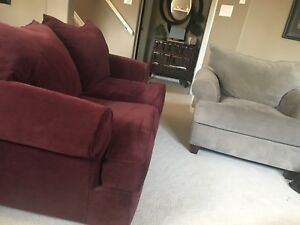 Loveseat and chair. LIKE NEW. Only a few years old