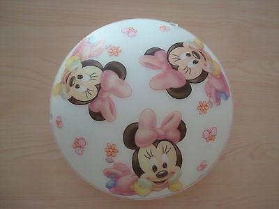 Minnie Mouse Maus Deckenlampe Kinderzimmer Lampe Blumen Schmetterlinge