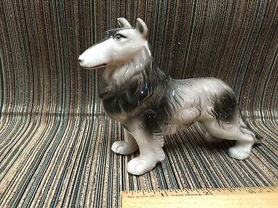 VTG Porcelain Dog Figurine - Afghan?