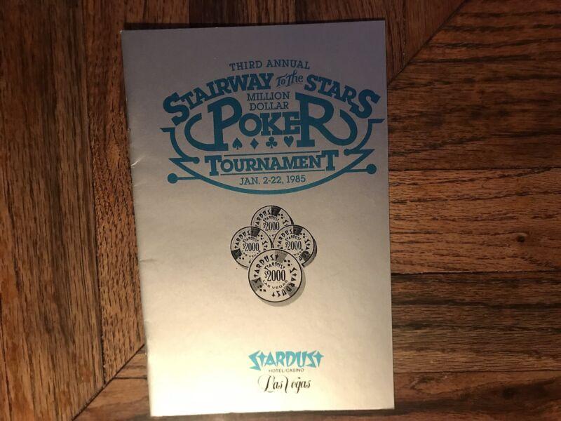 Stardust Hotel Casino Stairway To The Stars Poker Tournament Program 1985 Vegas