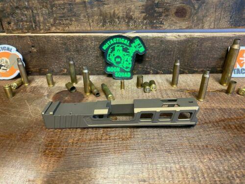 Raptor Series Slide Glock 17 with RMR Serrations & Windows Ports Gen 3 Bronze