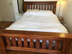 Beautiful queen wooden bed frame for sale - available 6/7th June Maroubra Eastern Suburbs Preview