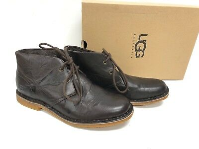 Ugg Australia Leighton Leather Chukka Ankle Desert Lace Boots 3275 Chocolate