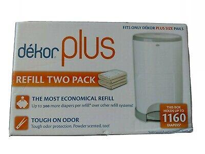 Dekor Plus Diaper Pail Refills Most Economical Refill System 2 Count Quick