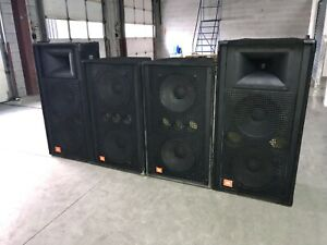 Large powerful JBL PA system - SR4733A and SR4715X-1