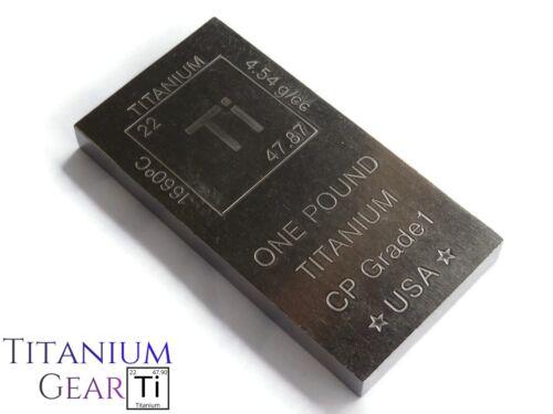 Titanium 1 Pound Bar! Ti Element Design .999 Bullion 16oz Ingot MADE IN THE USA!