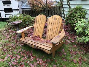 Cedar Adirondack two seater