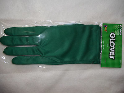 Gloves Theatrical Green Adults Stretch Polyester NEW 9