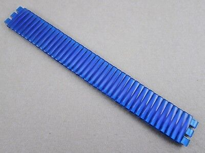 17mm lug size stainless steel stretch watch band for Swatch blue plastic cover