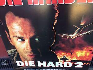 Die Hard 2 Movie wooden Hard board Poster Fox CBS Vintage Retro Oakleigh Monash Area Preview