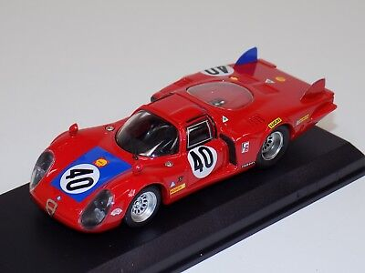 121/43 Best Model Alfa Romeo 33.2 Lunga Car #40 from 1968 24 H of LeMans