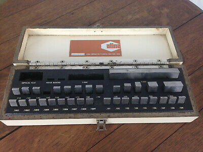 Vintage Alina 31 Piece Gauge Block Set In Case Wh-6