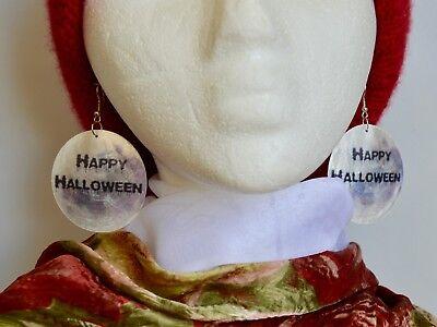 MOP Shell Earring Halloween Feast Designed Earring Size Approx. 50mm](Halloween Feast)