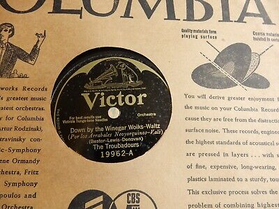 """JAZZ THE TROUBADOURS/ JEAN GOLDKETTE & ORC VICTOR # 19962 10"""" 78 RPM RECORD"""