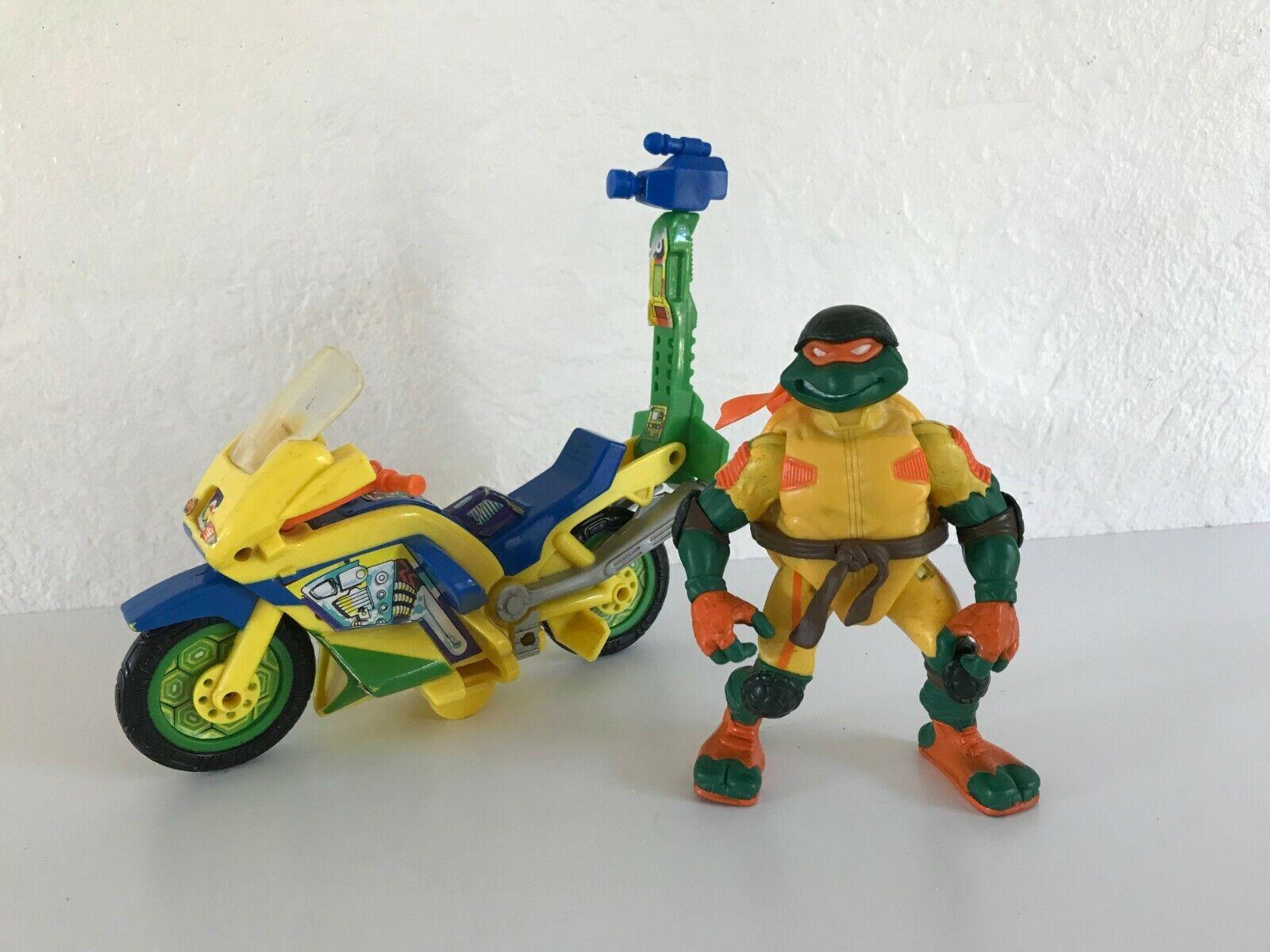☻ figurine moto vidéo tortues ninja année 1991 mirage studios playmates toys