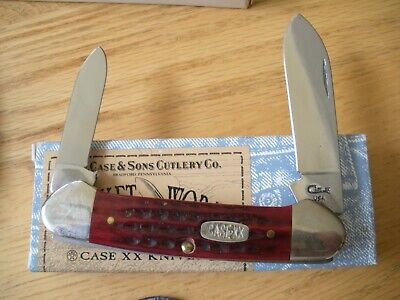 1998 CASE XX # 62131 SS BONE CANOE KNIFE NEVER USED in BOX