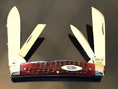 VINTAGE MINT Case XX Transition U.S.A.to 10 Dot Red Bone Big 6488 Congress Knife