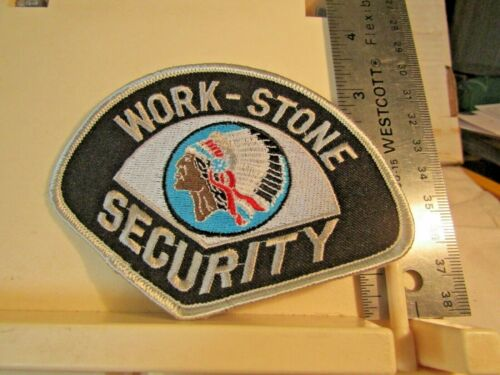 Work-Stone Security patch native american headdress logo NOS Portsmouth Ohio OH