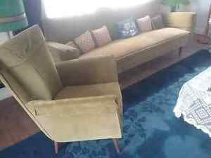 Designer Retro lounge with matching armchair Double Bay Eastern Suburbs Preview