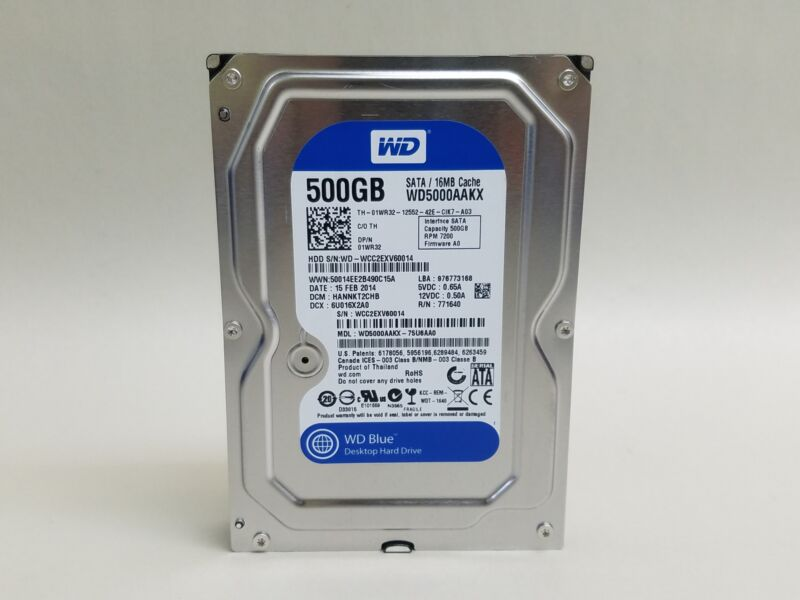 Western Digital WD Blue WD5000AAKX 500GB SATA III Desktop Hard Drive