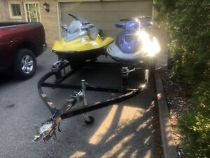 2001 Seadoo GTX and RX w/ Double Trailer
