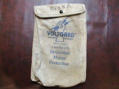 Vintage Voltgard Linemans Glove Bag With Leather And Metal Clip. Vgb-12.