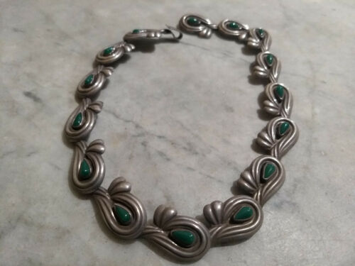 Vintage Sterling Silver Necklace Mexico