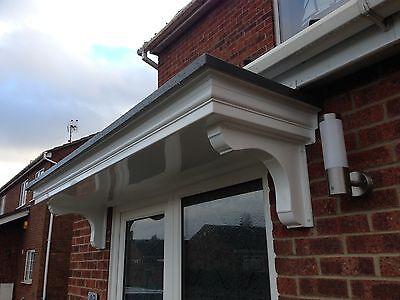 Delta GRP (Fibreglass) Door Canopy 2200mm wide *Made to Measure*  Inc Gallows.