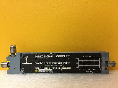 Struthers 108038 0.5 To 1 Ghz 10 Db Coupling Type N F Directional Coupler