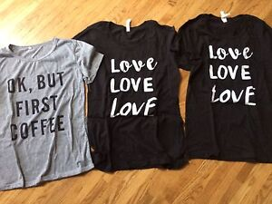 Assorted sizes t- shirts