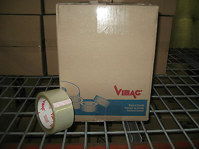 36 Rolls - Vibac 3.0 Mil 2 Clear Packaging Tape - Ships Free