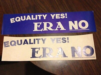 ERA bumper stickers - two--in different colors.1980-90s. unused