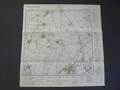 Landkarte Meßtischblatt 4036 Calbe a.d. Saale, Eikendorf, Bad Salzelmen, 1943