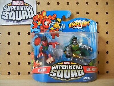 Marvel Super Hero Squad SEALED Wave 18: REPTIL & DR. DOOM 2-PK from SHS Cartoon