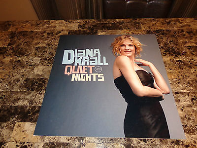 Diana Krall Rare Promo Quiet Nights 2009 Record Store Display Picture Board REAL
