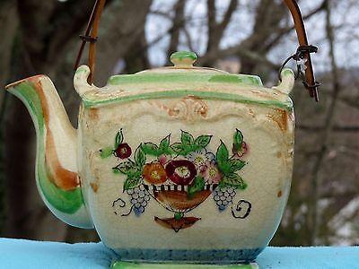 Antique Japanese Sumida Gawa Wine Sake Pot Teapot Sencha Yusamashi ESTATE FIND