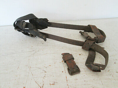 Vintage Bell System M. Klein Sons 16 Pole Tree Climbing Gaffs Spikes Spurs