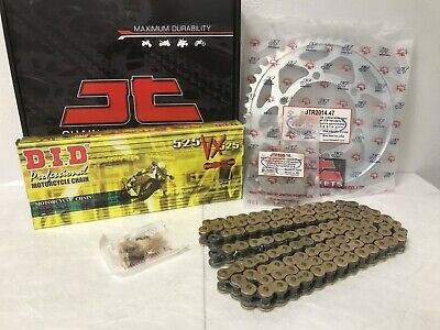 TRIUMPH 675 STREET TRIPLE CHAIN AND SPROCKET KIT 2008 TO 2017 DID GOLD
