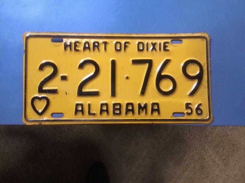 Alabama Car Tags 1956