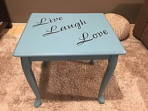 Gorgeous Teal Side Table Medowie Port Stephens Area Preview