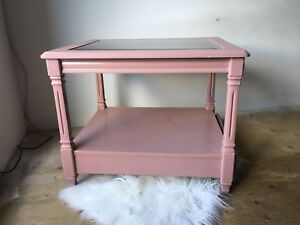 Refinished Pink Vintage Coffee/Bedside Table