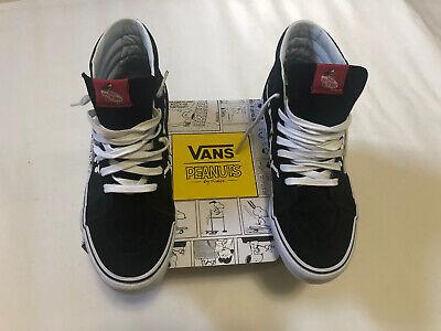 Vans Peanuts Snoopy Bones Black Hi-Sk8 sneakers.