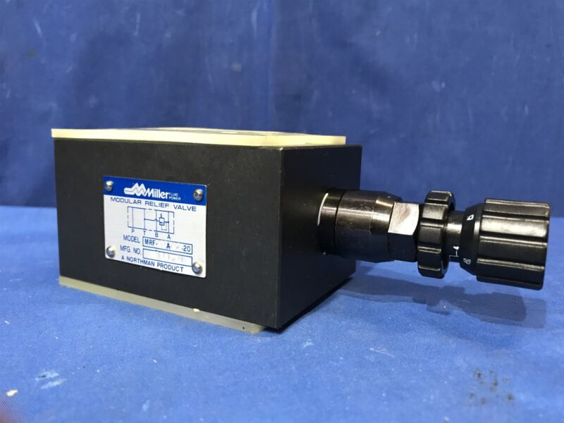 Miller Northman MRF-03A-K2-20 modular hydraulic relief valve Free Shipping