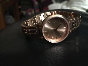 DNKY rose gold woman's watch