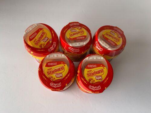 (5) Starburst Original Sugar Free Gum 40 Pieces